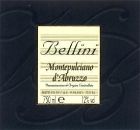 rotwein montepulciano de abruzzo bellini